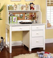 Girls White Desk And Hutch by Office Chic White 2 Piece Desk And Hutch Set Three Side Drawers