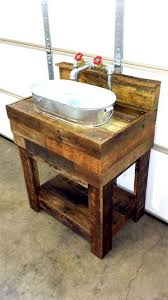 Diy Rustic Bathroom Vanity Pallet Board Bathroom Vanity With Galvanized Sink