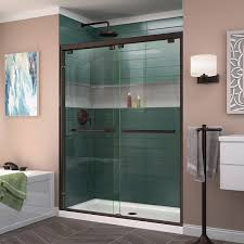 Bypass Shower Door Dreamline Encore 56 60 In W X 76 In H Frameless Semi Frameless