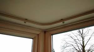 ceiling fix curtain track with gap over the track