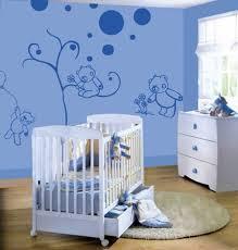 babyzimmer wandgestaltung ideen babyzimmer wandgestaltung ideen mit coole blau wandtattoo bär motiv