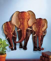 elephant head wall plaque african safari man cave sculpture man