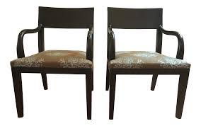 hunt olon arm chairs a pair chairish