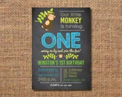 boy u0027s birthday monkey invitation baby boy first
