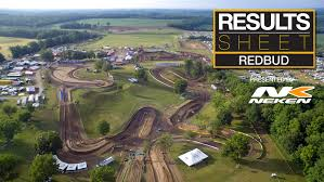 pro motocross results results sheet redbud motocross feature stories vital mx