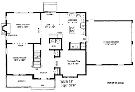 Colonial Floor Plans Plan W0026c Open Interior E Architectural Design