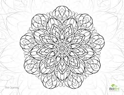 the opening mandala free detailed coloring pages