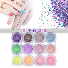 deesee tm 12pc nail art colorful sugar sequins fluorescent pearl