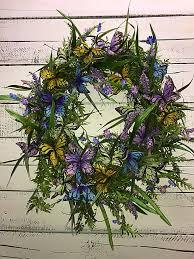 wreath for front door butterfly wreath for front door spring wreath summer wreath