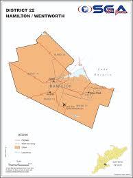 Hamilton Ontario Map Districts