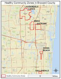 Map Of Broward County Florida healthy community zones touch broward