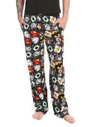 dc comics justice league s pajama topic geekwear