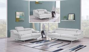 global furniture bonded leather sofa global furniture u8141 gr natalie light grey bonded leather sofa set