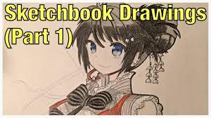 manga sketchbook drawings part 1 youtube