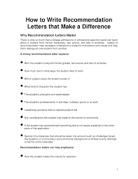 how to address a recommendation letter free resumes tips