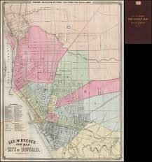 Buffalo Map Geo W Reese U0027s New Map Of The City Of Buffalo Barry Lawrence