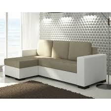 petit canap blanc canapé d angle moderne et tendance blanc et beige pas cher