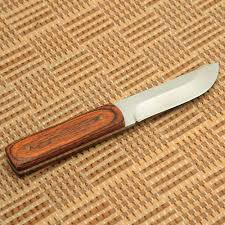 caoyuan ay 2c wood handle small straight knife sharp hunting