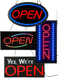 shop open sign lights led open closed signs flashing window displays for retailers