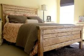rustic king size headboard and footboard home design ideas