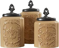 design guild 3 piece kitchen canister set u0026 reviews wayfair