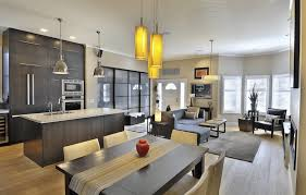 Small Open Floor Plans With Pictures Open Concept Kitchen Living Room House Plans Arts
