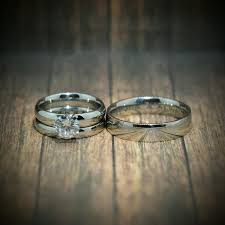 Wedding Ring Trio Sets by Wedding Rings Yellow Gold Wedding Ring Sets For Him And Her Trio