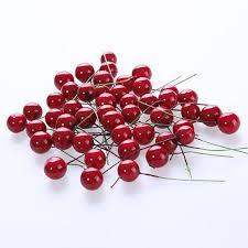 christmas picks 50pcs lot artificial cherries berry picks for for christmas