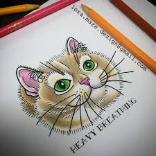 Fat Cat Heavy Breathing Meme - i would love to tattoo heavy breathing cat if you want i flickr