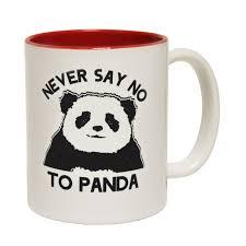 funny mugs never say no to panda tea coffee mug novelty joke