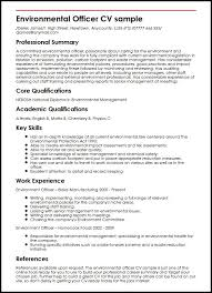 It Skills Resume Sample by Environmental Officer Cv Sample Myperfectcv