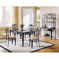 antique grid black lacquer dining room furniture with powder