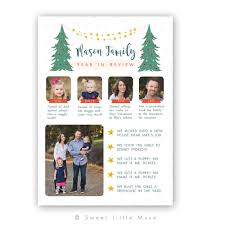 year in review card template christmas card template