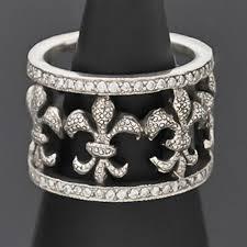 Fleur De Lis Gifts Silver U0026 Diamond Fleur De Lis Ring