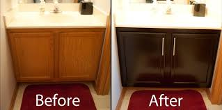 Refurbishing Kitchen Cabinets Restaining Kitchen Cabinets Before And After Diy Stuff