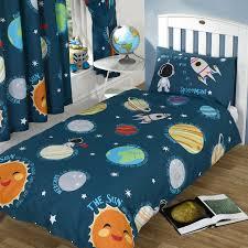 Kids Single Duvet Cover Sets Solar System Comforter Set Kids Blue Solar System Bedding The Land