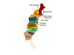The Thirteen Colonies Map The Original 13 Colonies History Showme