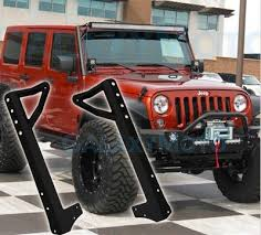 jeep jk light bar brackets led light bar mounts