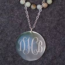 Monogram Necklace Silver Oversized Long Silver Monogram Necklace The Personal Exchange