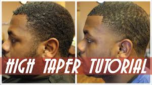 how to high bald taper mens haircut step by step youtube