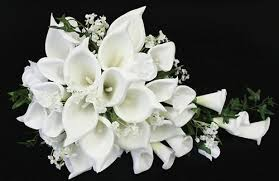 white calla white real touch calla lilies bouquet