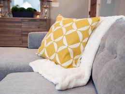 Yellow Throws For Sofas by Gray Micofiber Sofa Geometric Yellow And White Throw Pillow 16inch
