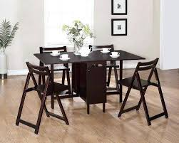 Drop Leaf Table With Chairs Folding Table With Chairs Stored Inside Adorable Drop Leaf Table