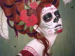 halloween background sugar skulls sugar skull backgrounds group 49