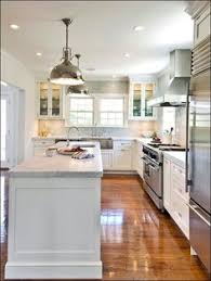 L Shaped Kitchen With Island Layout I Think We Will Have To Have A Narrow Island But This One Seems