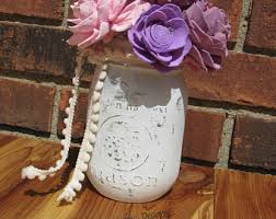 Mason Jar Flower Arrangement Mason Jar Flowers Etsy