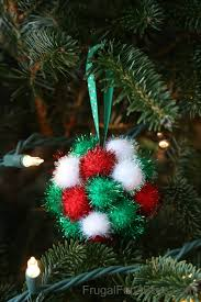 sparkly pom pom ornaments for to make