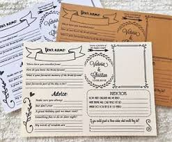 to be advice cards a5 wedding advice cards wisdom groom wishes guest book