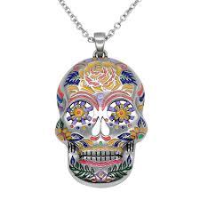 necklace skull images The floral sugar skull necklace controse jpg