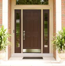 decorations contemporary double brown entry door design with